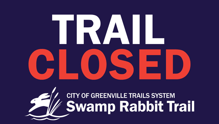 Graphic Text: Trail Closed